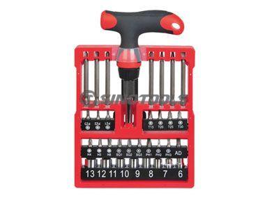 33pcs T-handle ratchet screwdriver set