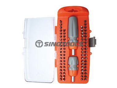77Pc Standard and Mini Ratchet Screwdriver Set