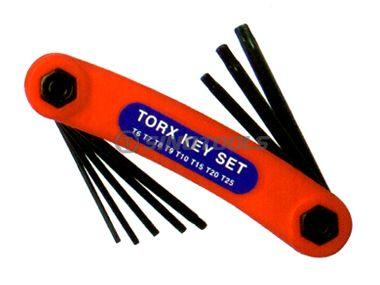 8Pc Folding Torx Hex Key Set