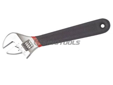 Adjustable Wrench with Double Color Dipping Handle