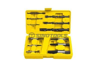 12Pc Screw Extractor And Drill Set, Fine/Coarse Thread