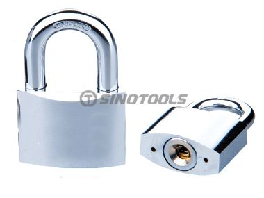 Chrome Plated Disc Padlock