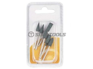 6Pc Green Rubber Mounted Point
