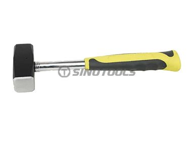 Stoning Hammer, Double Color Sleeve Steel Tubular Handle