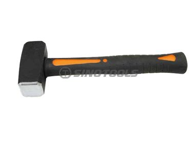 German Type Stoning Hammer With Double Color Plastic-Coating Handle