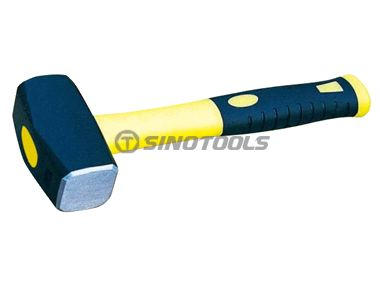 British Type Stoning Hammer With Double Color Plastic Coating Handle