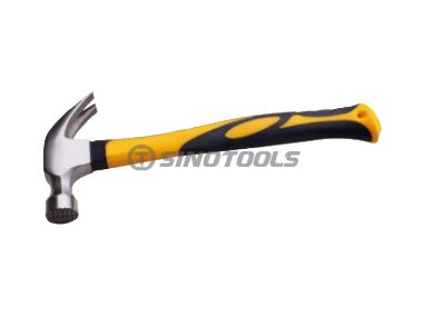 American Type Claw Hammer, PP+TPR Coated Fiberglass Handle