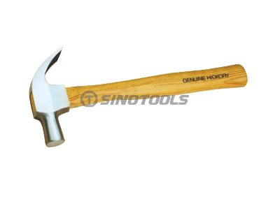 British type claw hammer with hickory handle