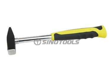 Machinist hammer, double color sleeve steel tubular handle