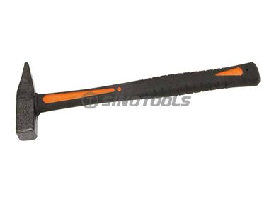 German type machinist hammer with double color plastic-coating handle