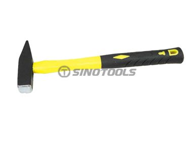 German type machinist hammer with double-color plastic-coating handle