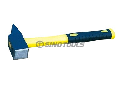 French type machinist hammer with double color plastic-coating handle