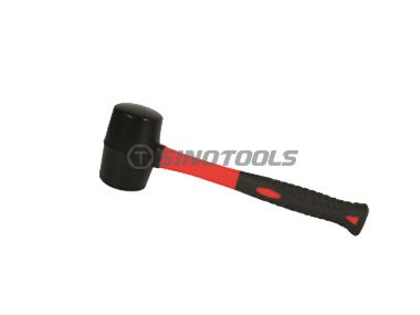 Rubber mallet with double color