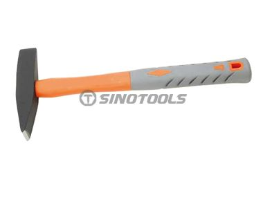 British type chipping hammer with plastic-coating handle