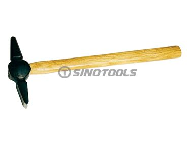 Japanese-Type Welding Hammer With Wooden Handle