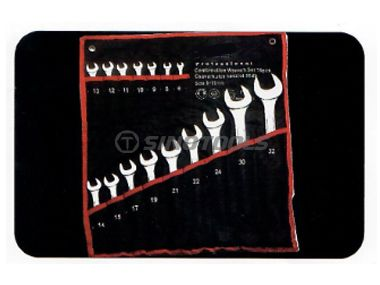 16Pc Combination Wrench Set