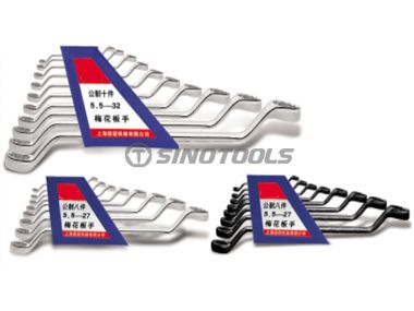 10Pc Double Offset Ring Wrench Set
