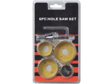 6Pc Hole Saw Set
