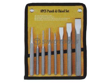 8Pcs Punch & Chisel Set