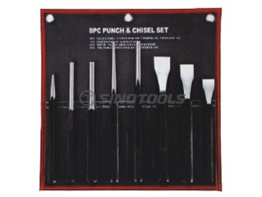 8Pcs Punch & Chisel Set