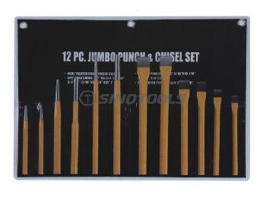 12Pcs Punch & Chisel Set