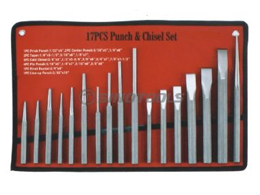 17Pcs Punch & Chisel Set