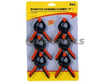 6Pc Plastic Spring Clamp