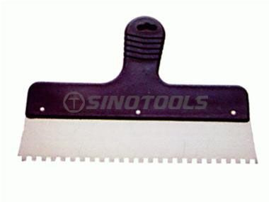Scraper with Teeth and Plastic Handle