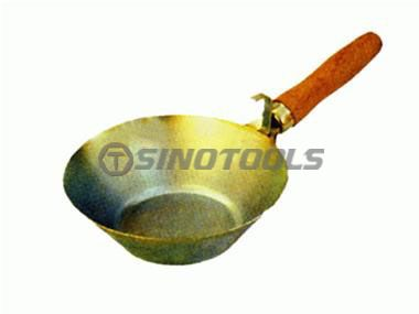 Cement Bowl with Wooden Handle
